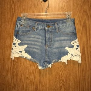 ellison blue jean shorts